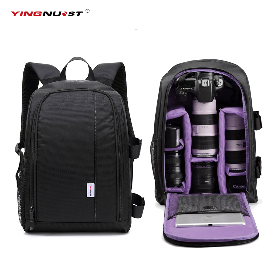 2017 Large Capacity DSLR Camera Bag Travel Waterproof Photo Padded Backpack w/ 15.6 Laptop Backpack Soft bag Digital Video Case sinpaid anti theft digital dslr photo padded camera backpack with rain cover waterproof laptop 15 6 soft bag video case 50