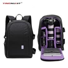 Cheap price 2017 Large Capacity DSLR Camera Bag Travel Waterproof Photo Padded Backpack w/ 15.6″ Laptop Backpack Soft bag Digital Video Case
