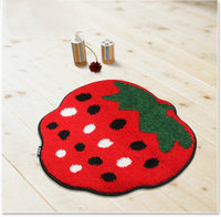 NiceRug Red Strawberry Design Living Room Ultrasoft Microfiber Carpet Anti skidding Door Mat For Bedroom Tappeto Salotto Moder