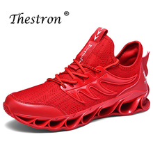 Good Quality Gym Outdoor Shoes Fly Wire Athletic Footwear Boy Breathable Running Sports Shoes Men Anti-Slip Jogging Sneakers Men