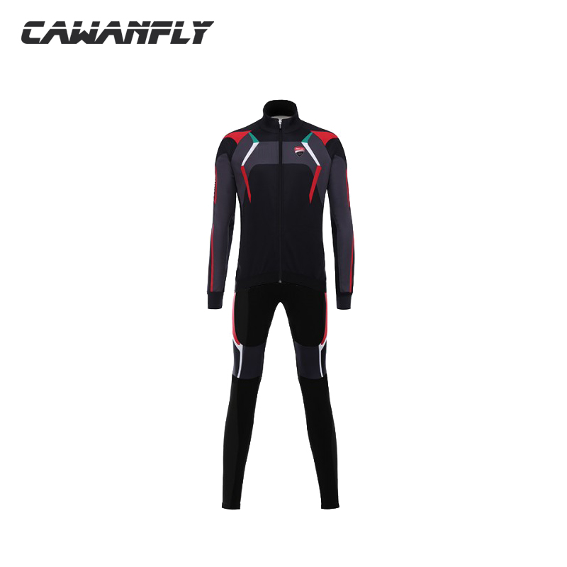 2018 lotto men spring and autumn Cycling Jersey Set long Sleeve MTB Cycling Clothing Pro Team Ropa Ciclismo trousers 9D Gel Pad