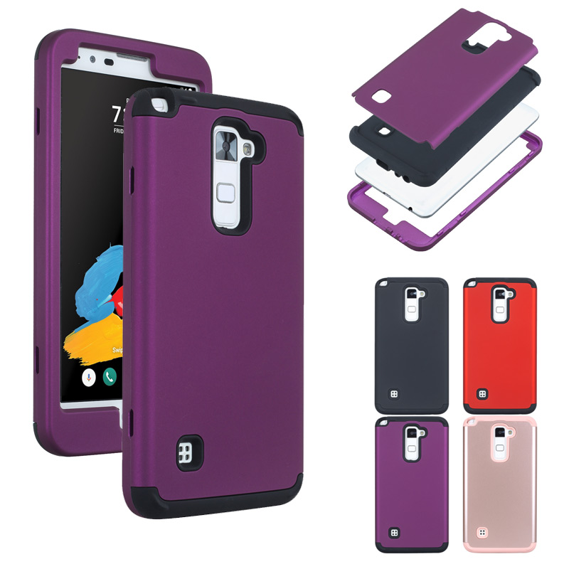 3 Layers Shockproof PC+silicone Tough Hybrid Armor Drop fullbody Protection <font><b>Case</b></font> Cover For <font><b>LG</b></font> K520 /Stylus 2/ <font><b>G</b></font> <font><b>Stylo</b></font> 2/LS775 image