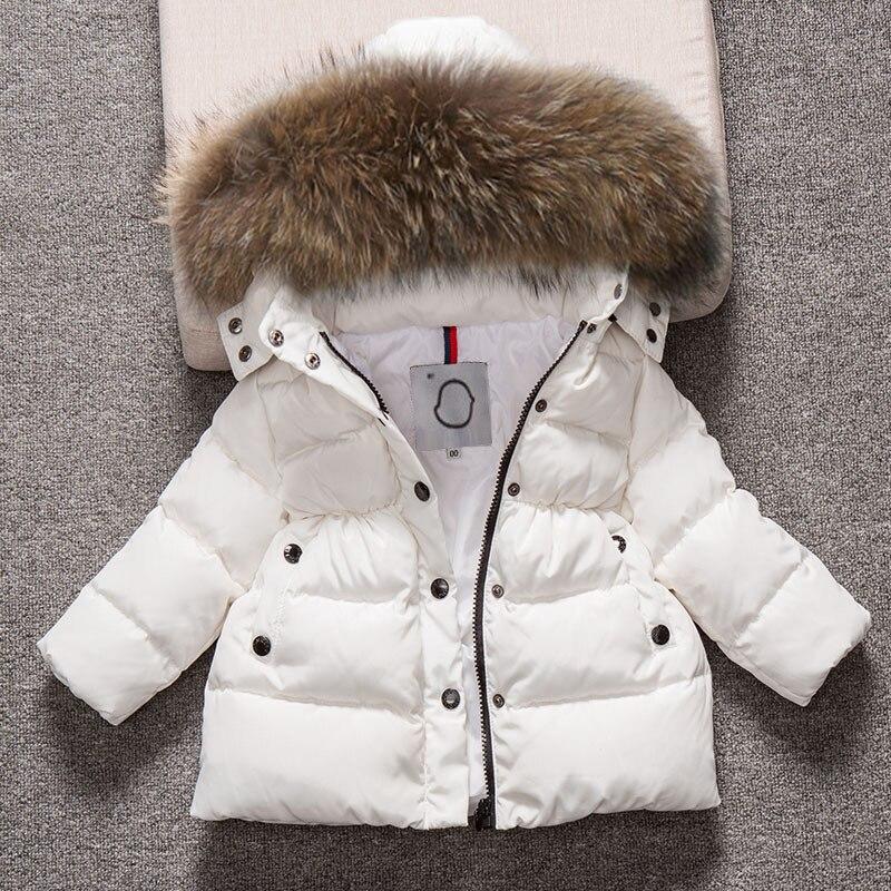 Kids Snowsuit Hooded Boys Winter Coat Snow Wear Down Cotton Thermal children winter Outwear Coat Down Parkas Fur Collar 4-13T цена