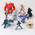 New Toys 9pcs/set Big Hero 6 Baymax Hiro Hamada Callaghan Fred Robot Action Figure Cartoon Movie Action & Toy Figures Kids Gifts