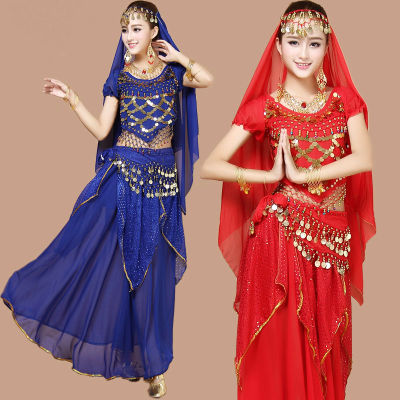 4pcs Belly Dance Costume Bellydance Triba Gypsy Indian