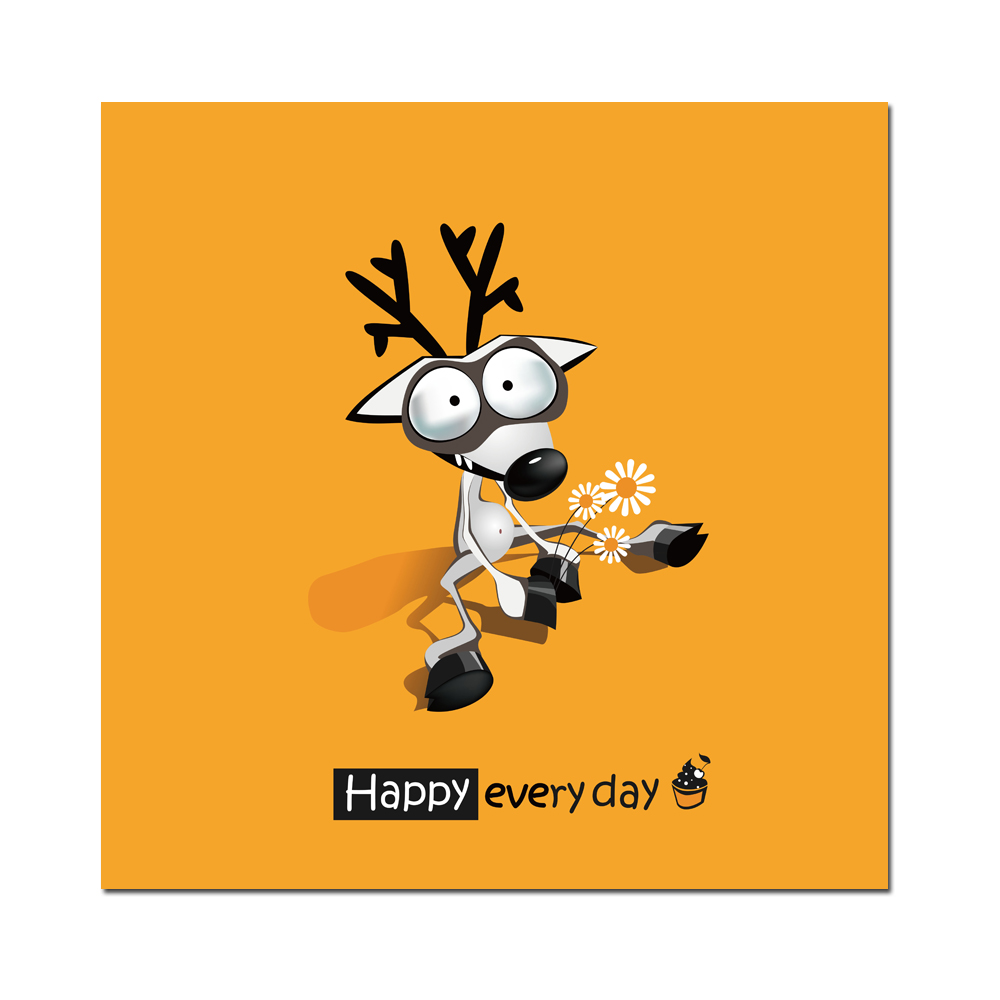 canvas prints cartoon cute animal happy everyday quote picture