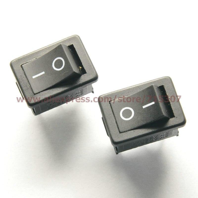 Phiscale 10 pçs lote 3 pinos 10a 125 v 6a 250 v preto botão rocker switch  kcd1-102 roqueiro on-off interruptores de energia d1c3a7d944