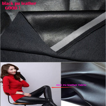 Good 69*50cm Black PU Leather Faux Leather Fabric PU Synthetic Leather Fabric Quilting Patchwork Sewing Material Diy Pants Dress