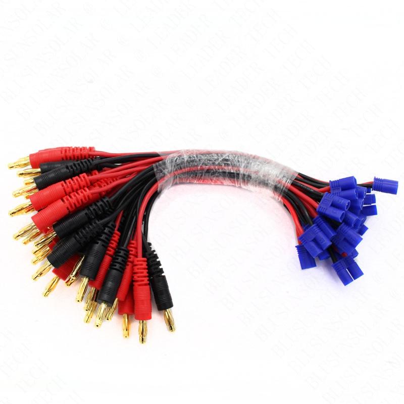 100pcs/lot OEM quality  EC2 Male to 4mm Banana Plug,  For RC lipo battery