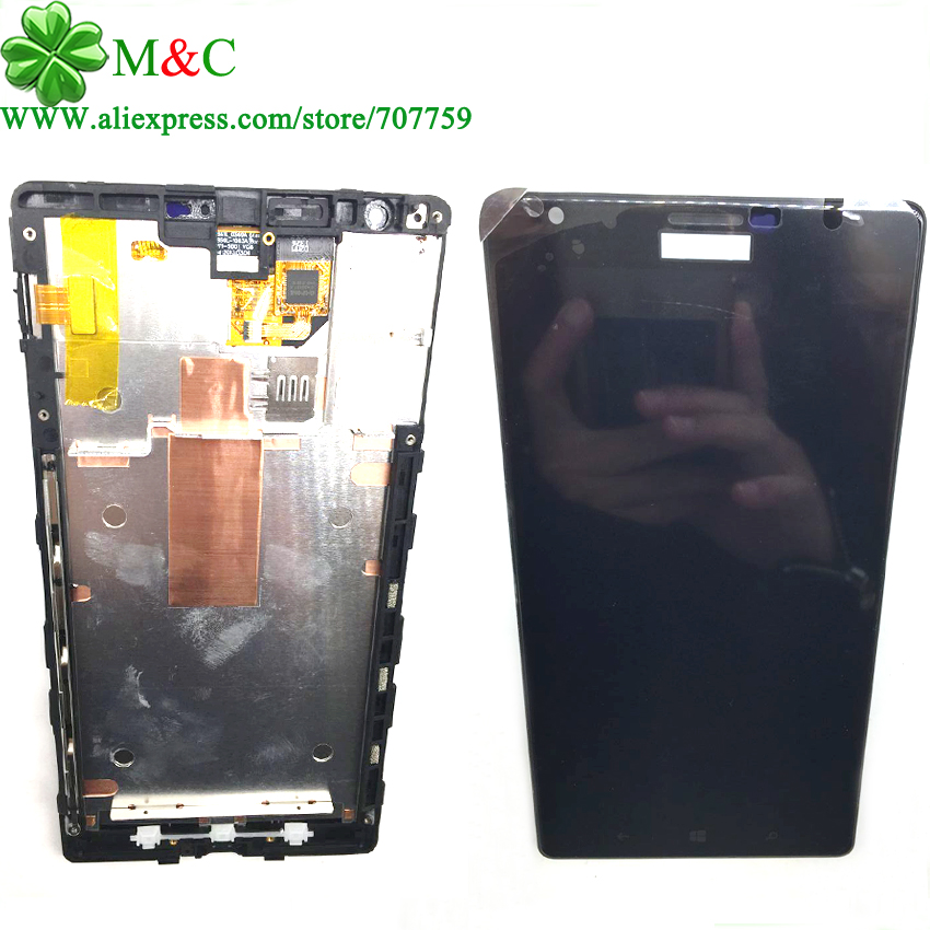ФОТО Tested 1520 LCD Touch Panel For Nokia Lumia 1520 N1520 LCD Display Touch Screen Digitizer With Frame Assembly Free Tracking
