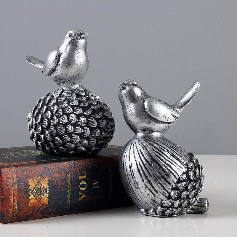 Antiek Grenen Tv Kast.De Antieke Zilveren Grenen Vogel Woninginrichting Sieraden