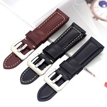24MM Genuine Leather Watchbands For PAM PAM111 PAM441 PAM438 Watch Straps bands Mens Cow Bracelets Accessories