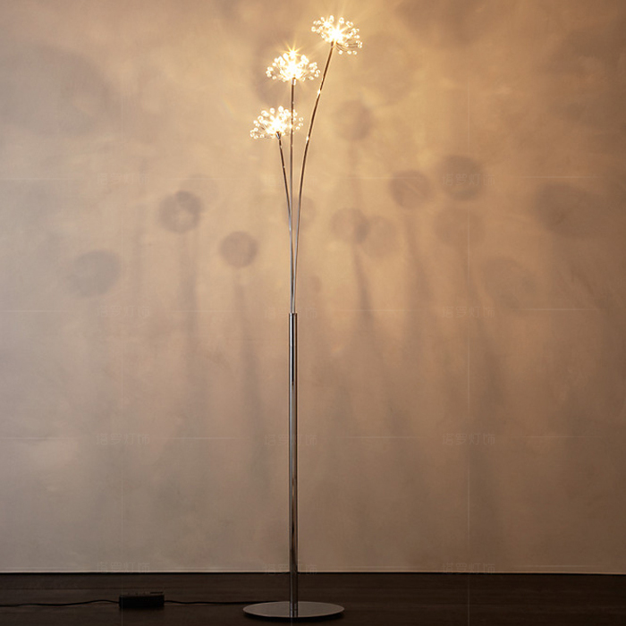 New Modern Crystal Floor Lamp For Living Room Flower Decorative LED Steel Standing  Lamps Bedroom Classic Light By Italy Designer In Floor Lamps From Lights ...