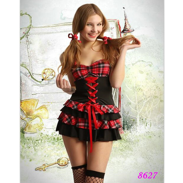 Sexy School Girl Costumes Hot Erotic Student Uniform Fancy Maid Cosplay Costume Women -2275