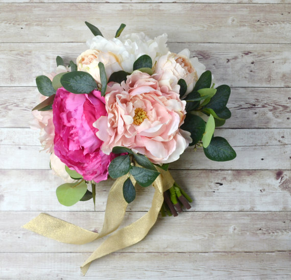 Peony Bridesmaid Bouquet Wedding Flowers Pink Buque De Noiva In Bouquets From Weddings Events On Aliexpress Alibaba Group