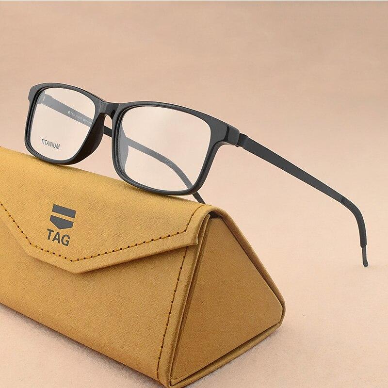 MARCA de Alta Qualidade Óculos de Titânio quadro marca miopia progettista uomini Occhiali chiari Occhiali cornija ottici vintage frame