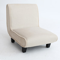 Modern Mini Sofa Chair Furniture Upholstered Single Sofa Seater Armless Cushion Living Room Occasional Accent Chair