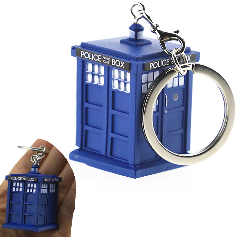 цены на Doctor Who Theme Keychain Dr Who Tardis Mochila Escolar Toys Action Figure Collectible Model Vinyl Dolls Keyring Kid Gift Cute