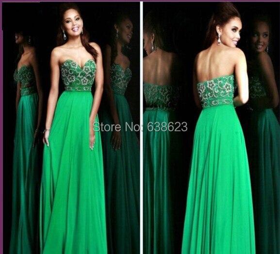 Abito da sera lungo verde smeraldo – Abiti in pizzo 0acd961fae2