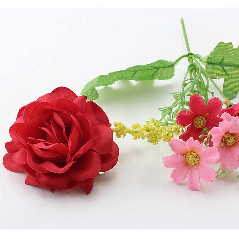 Schöne Blume Haar Clip in frauen Haar Zubehör Haarnadeln Weibliche Mädchen Pony Floral Headwear Barrettes Frau Haar Ornament