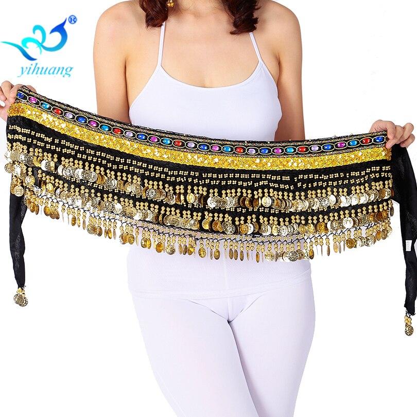 Kvinnor Belly Dance Hipscarf Velvet Bellydance Belt Ladies Indian - Nya föremål