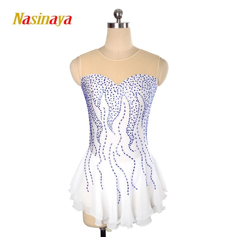 Nasinaya фигурное катание платье заказной конкурс Катание на коньках юбка для девочки Для женщин дети patinaje гимнастика производительность 141
