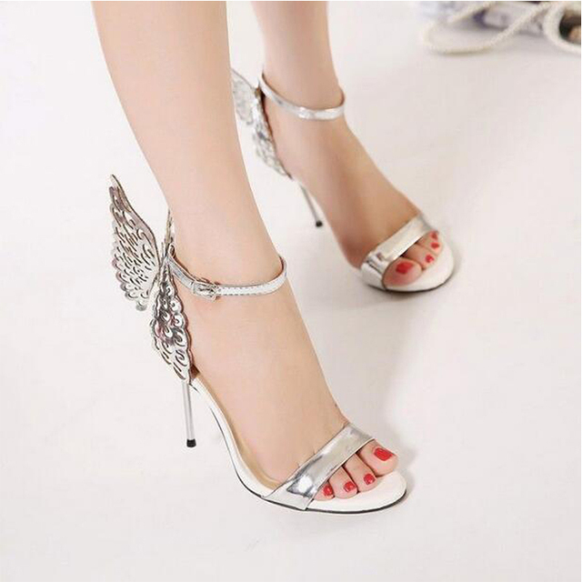 New 2017 Summer Women Sexy High Heels Shoes Lady's Pigalle Personality Party Shoes Women Pumps Butterfly Stilettos sandals