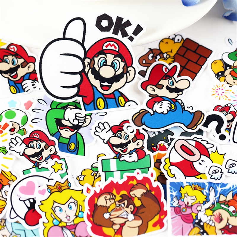 28 Pcs Small Game Protagonist Sticker For Kid DIY Laptop Waterproof Skateboard Moto Phone Car Toy Scrapbooking Stickers