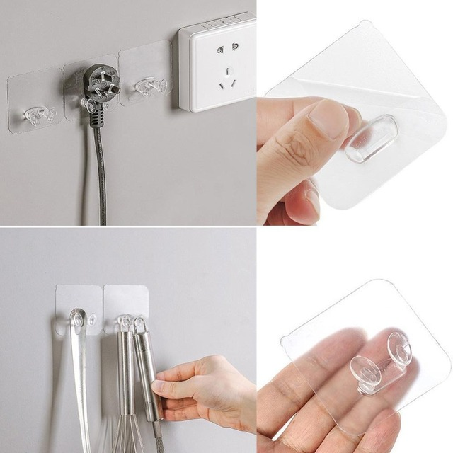 1/5/10/20 pcs Wall Storage Hook Power Plug Socket Holder Wall Adhesive Hanger Home Office Wholesale Price