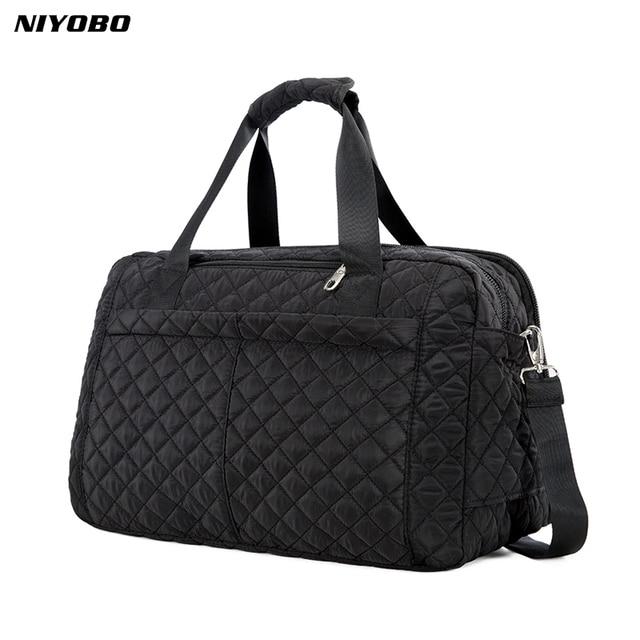 13bbd695b96e US $17.76 54% OFF|NIYOBO 2018 New Arrive Large Capacity Women Travel Bags  Men's Handbag Casual Shoulder Luggage Bag Female Hand Travel Tote Bag-in ...