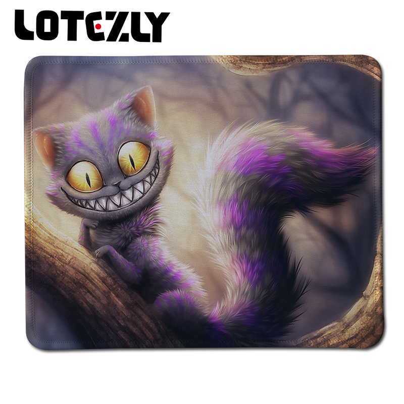 Hot Item Custom DIY Design Gaming Mousepad Cat Print Rubber Mice Mats Stitched Edge Anti-slip Mousemat For PC Computer Gamer