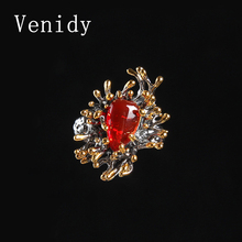 Venidy 2017 New Irregular Natural Opal Resizable Ring Fashion Red 925 Sterling Silver Jewelry Vintage Wedding Rings For Women
