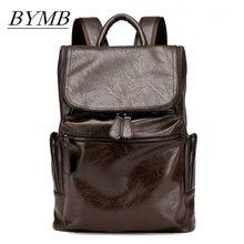 2017 Genuine Leather Men's Backpack Bag Brand Laptop Noteboo