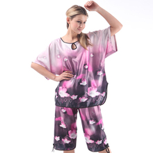 European & American women pajama set 2014 summer Women's Sleep & Lounge ladies charming sleepwear girls clothing set promotion(China)