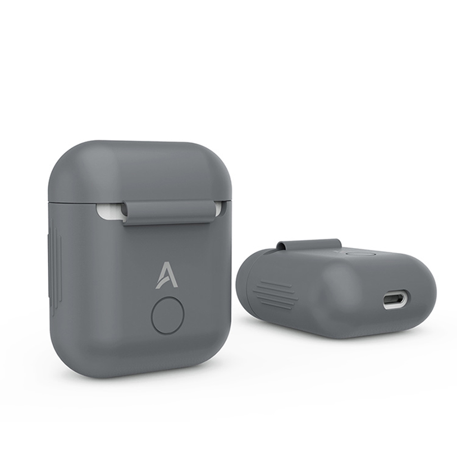 Gray Silicone Case for Apple Airpods Air Pods Protective Cover Pouch Anti Lost Protector Elegant Sleeve Fundas Accessories