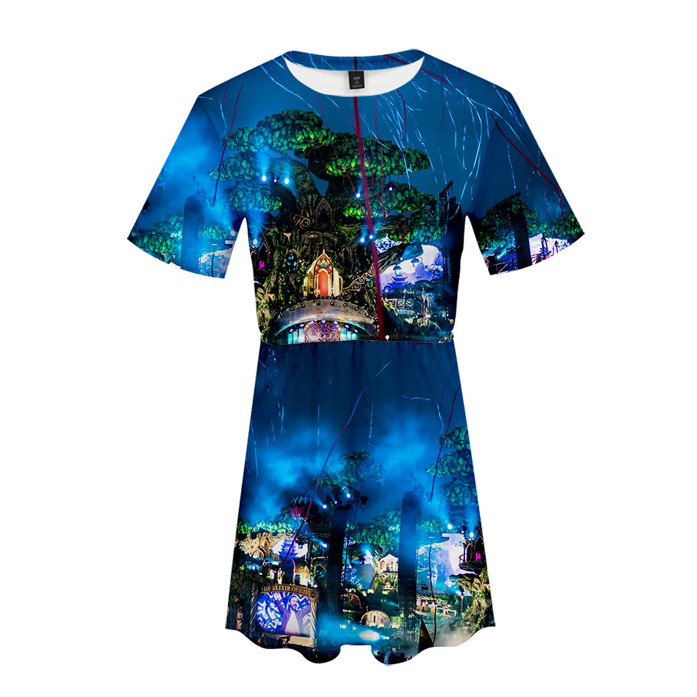 Tomorrowland 3d Print Basic Cool High Fashion Hip Hop Street Summer Dress Casual Comfortable Round Collar Sex Beautiful Dress Ample Supply And Prompt Delivery Women's Clothing
