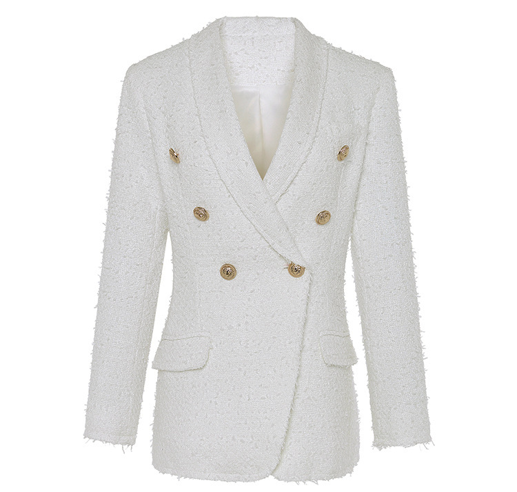 Modo Lunga Donne Pista Bianco Qualità Colore Sportiva Tuta Manica Alta Delle Scialle Cappotto Del Sottile Collo Di A twqR6Z0H