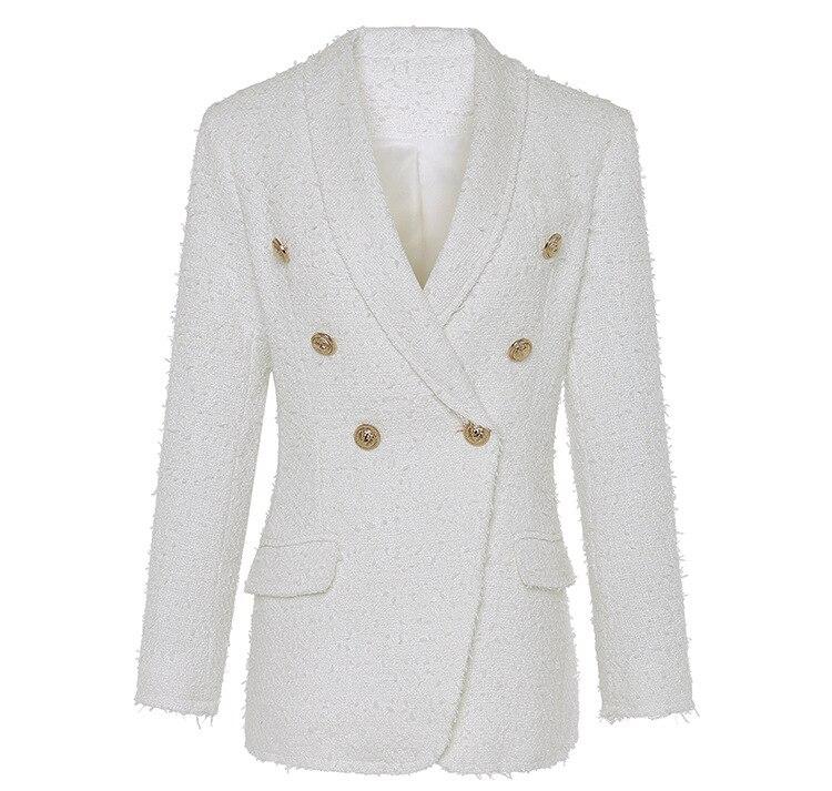 Qualité Piste Survêtement Mince Mode De Châle Manteau À Manches Femmes Blanc Col Haute Longues Couleur dx4FwOd6