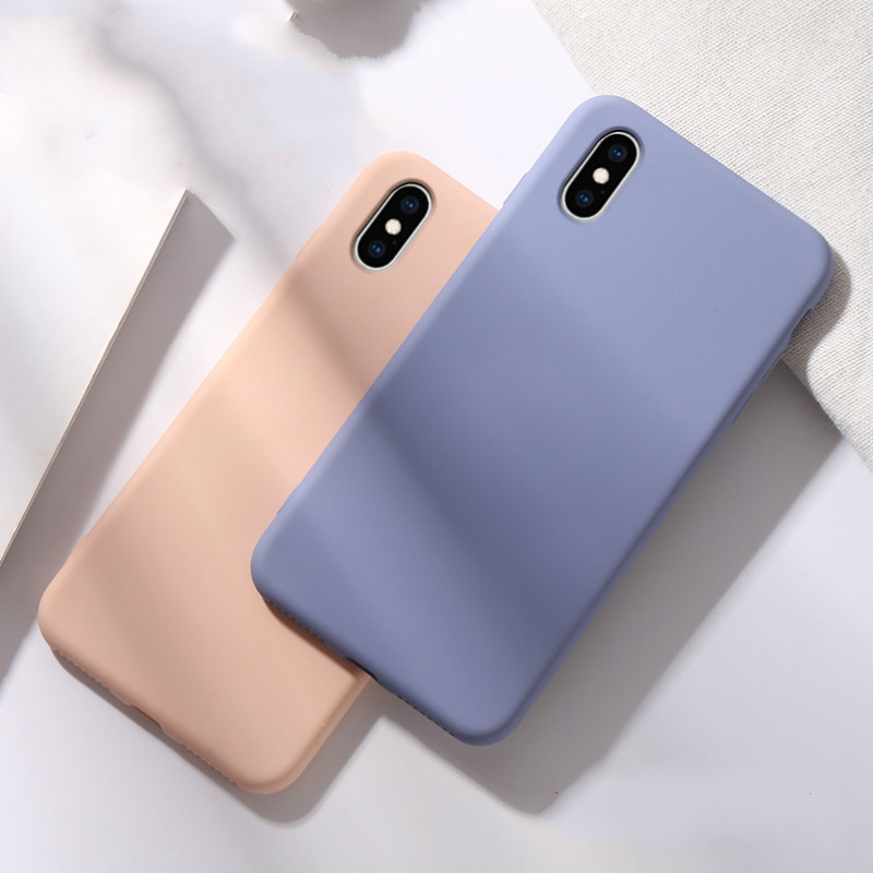 Image 4 - Soft Liquid Silicone Phone Case for iphone X XS MAX XR 7 8 6 6S Plus Soft Gel Rubber Shockproof Cover Full Protective back case-in Fitted Cases from Cellphones & Telecommunications