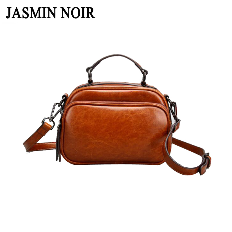 Fashion New Brand Genuine Leather Women Handbag Simple Female Designer Shoulder Bag Vintage Casual Samll Tote Bag for Ladies 2018 new style genuine leather woman handbag vintage metal ring cloe shoulder bag ladies casual tote fashion chain crossbody bag