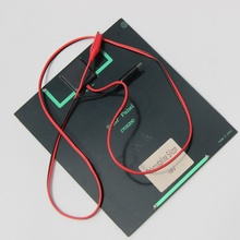 High Quality 6W 18V Solar Cell Monocrystalline Solar Panel+Crocodile Clip For Charging 12V Battery Charger New Free Shipping