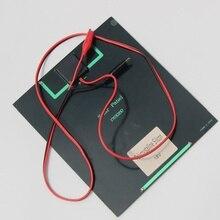 Painel plus Crocodile Clip para Carregar Carregador de Bateria Alta Qualidade 6 W 18 V Célula Solar Monocristalino 12 Novo Frete Grátis