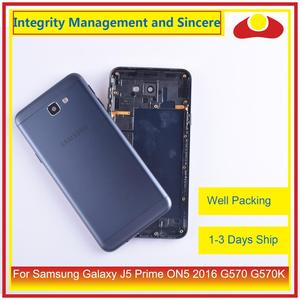 Image 1 - サムスンギャラクシー J5 首相 ON5 2016 G570 G570K ハウジングバッテリードアフレームバックカバーケースシャーシシェル