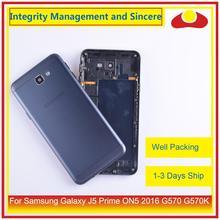 Original para samsung galaxy j5 prime on5 2016 g570 g570k habitação bateria moldura da porta capa traseira caso chassis escudo