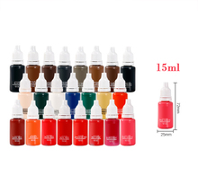 цена на 23 Color 1/2OZ Micro Pigment Professional Makeup Eyebrow Eyeliner Lip Tattoo Ink Pigment Body Tattoo Art _TA116(1-24)