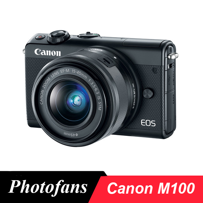 Canon M100 Mirrorless Digital Camera with 15-45mm Lens image