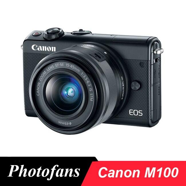 Câmera digital canon m100, sem espelho, com lente de 15-45mm