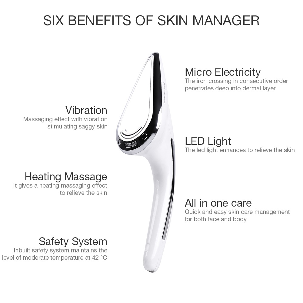 Foreverlily Skin Iron Microcurrent Massager Face Neck Body Massage Anti Wrinkle V-line Face Eye Lifting Skin Tightening Machine