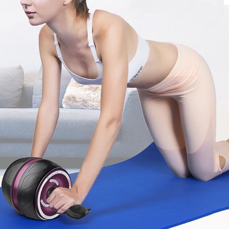 Parfait Fitness Ab Carver Ab Roller Pro Roller pour les entraînements de base rebond automatique garder les roues adaptées pour l'entraînement en salle de sport avec tapis