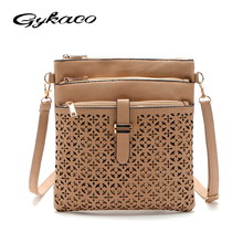 2018 Fashion Small Bag Women Messenger Bags Soft PU Leather Hollow Out Crossbody Bag For Women Clutches Bolsas Femininas Bolsa